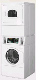 module machine à laver et sèche-linge superposé Module HORIZON de chez Speed Queen pour les petites buanderies