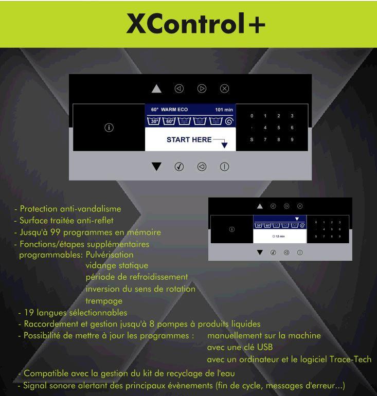 écran de controle électronique pour laveuse aseptique traversante Primus FXB240