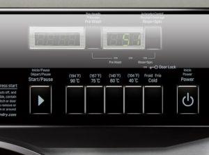 panneau de contrôle digital de la machine à laver frontale professionnelle à cuve suspendue LG ATOM