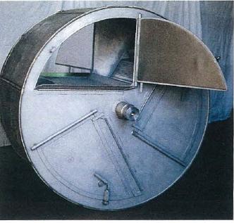 machine à laver aseptique - Luniwash  LW100 DS- tambour en acier inox AISI301 divisé en 3 compartiments