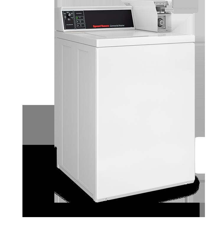 lave linge semi-professionel à chargement sur le dessus cuve suspendue Speed Queen SWN pour petite buanderie de particulier ou un gîte